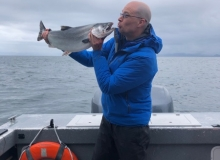 Coho Fishing in Whittier Alaska
